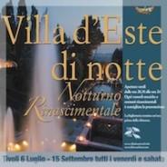 Villa d'Este la nuit : magique !