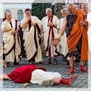 Reconstitution de l'assassinat de Jules César
